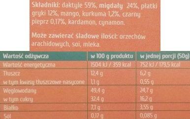Purella Food, Ewa Chodakowska Be Raw Oriental boost, surowe pralinki wegańskie z przyprawami orientalnymi, zdrowe słodycze, raw food, skład i wartości odżywcze, copyright Olga Kublik