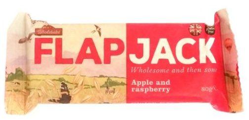 Wholebake, Flapjack Apple and raspberry, wegański baton owsiany z jabłkiem i maliną, wegetariańskie słodycze bez glutenu, copyright Olga Kublik