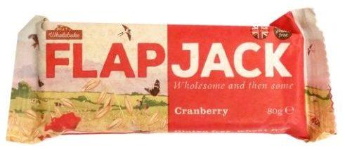 Wholebake, Flapjack Cranberry, wegański baton owsiany z żurawiną, wegetariańskie słodycze bez glutenu, copyright Olga Kublik