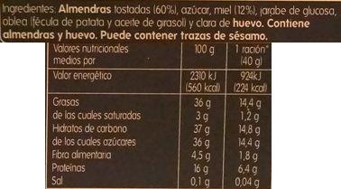 HiperDino, Turron de Alicante, twardy hiszpański nugat z migdałami i opłatkiem, skład i wartości odżywcze, copyright Olga Kublik
