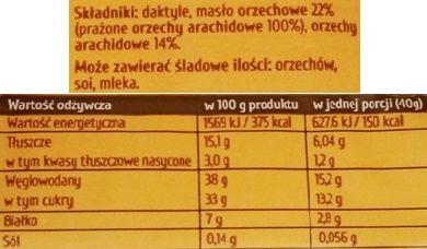 Purella Food, Ewa Chodakowska Be Raw Healthy Snack, surowy wegański batonik o smaku masło orzechowego, skład i wartości odżywcze, copyright Olga Kublik