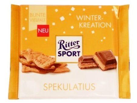 Ritter Sport, Spekulatius, zimowa edycja, mleczna czekolada z herbatnikiem korzennym, copyright Olga Kublik