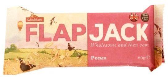 Wholebake, Flapjack Pecan, zdrowy wegański baton z orzechami pekan i płatkami owsianymi, copyright Olga Kublik