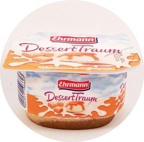 Ehrmann, DessertTraum Milchdessert Toffeecreme, piankowy jogurt z sosem toffi, copyright Olga Kublik