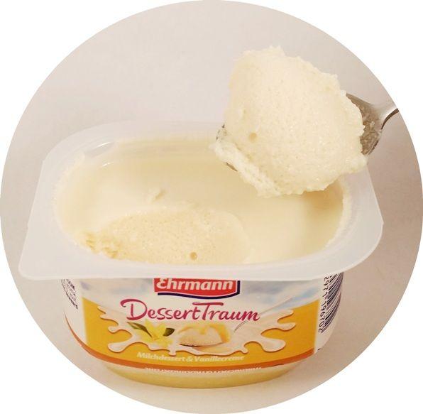 Ehrmann, DessertTraum Milchdessert Vanillecreme, piankowy jogurt z sosem waniliowym, copyright Olga Kublik
