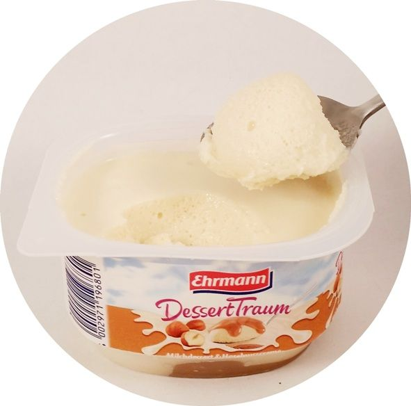 Ehrmann, DessertTraum Milchdessert Haselnusscreme, piankowy jogurt z sosem orzechowym, copyright Olga Kublik