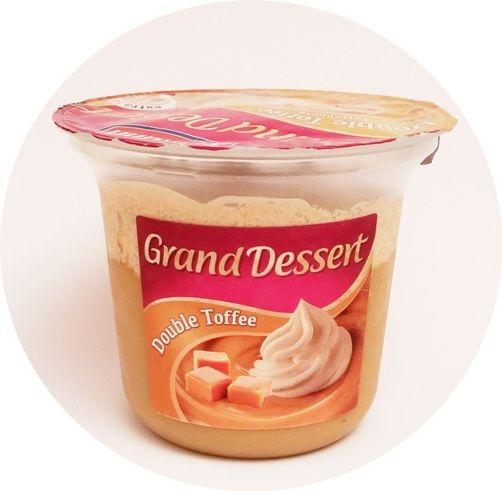 Ehrmann, Grand Dessert Double Toffee, gęsty pudding o smaku toffi z bitą śmietaną toffi, copyright Olga Kublik