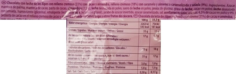 Milka, Almond Caramel Mandel Karamell, niemiecka mleczna czekolada z karmelem, nadzieniem migdałowo-kakaowym i migdałami, skład i wartości odżywcze, copyright Olga Kublik