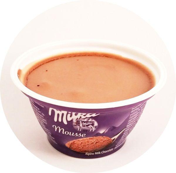 Milka, Mousse Alpine Milk Chocolate, deser mleczny aero o smaku mlecznej czekolady, czekoladowy pudding piankowy, copyright Olga Kublik