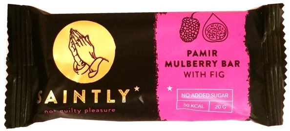 Saintly, Pamir Mulberry Bar White Fig, wegański batonik morwa i figa, copyright Olga Kublik
