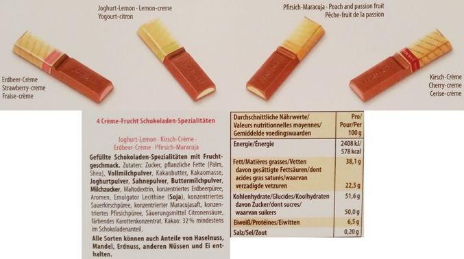 Storck, Merci Creme Frucht, bombonierka z mlecznej czekolady, skład i wartości odżywcze, copyright Olga Kublik