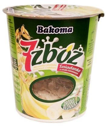 Bakoma, 7 zbóż Śniadanko musli o smaku bananowym, copyright Olga Kublik