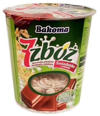 Bakoma, 7 zbóż Śniadanko musli z czekolada, copyright Olga Kublik