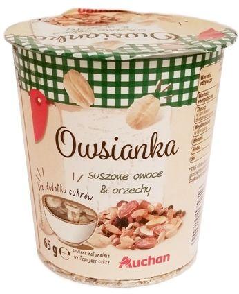 Bruggen, Owsianka suszone owoce i orzechy, Auchan, copyright Olga Kublik