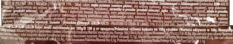 ETi, Adicto GO! Lemon Cream, babeczka magdalenka z kremem cytrynowym i polewą cytrynową, skład i wartości odżywcze, copyright Olga Kublik