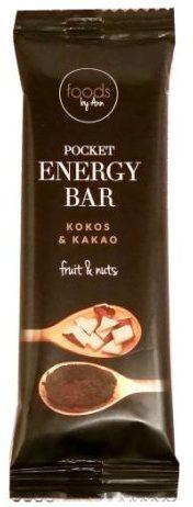 Foods by Ann, Pocket Energy Bar Kokos Kakao, wegański baton Anny Lewandowskiej, zdrowe słodycze bez cukru i glutenu, copyright Olga Kublik