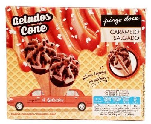 Holiday Ice, Gelados Cone Caramelo Salgado, rożki lodowe o smaku słonego karmelu i kakao z sosem karmelowym, copyright Olga Kublik