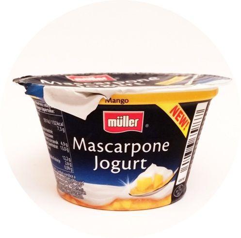 Muller, Mascarpone Jogurt Mango, copyright Olga Kublik