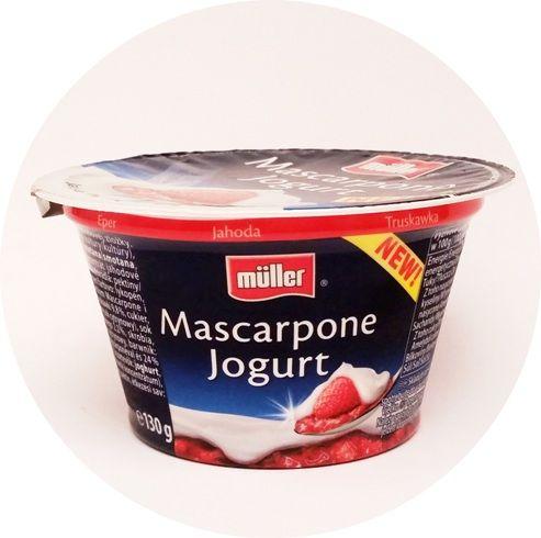 Muller, Mascarpone Jogurt Truskawka, copyright Olga Kublik