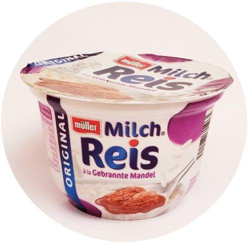 Muller, Milch Reis a la Gebrannte Mandel, niemiecka wersja Riso, ryż na mleku z sosem o smaku prażonych migdałów, copyright Olga Kublik