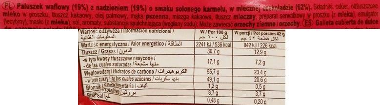 Nestle, Kit Kat Chunky Salted Caramel, batonik czekoladowy z kremem kakaowym i o smaku słonego karmelu, skład i wartości odżywcze, copyright Olga Kublik