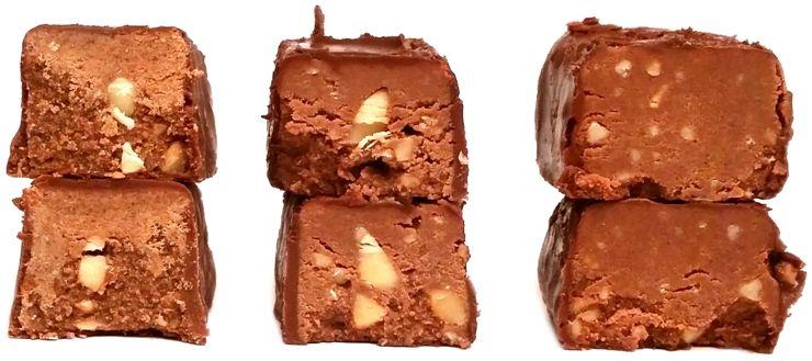 Porównanie cukierków typu michałki, cukierki kakaowe z orzechami arachidowymi, Michałki Śnieżka i Wawel, Michaszki Mieszko, copyright Olga Kublik