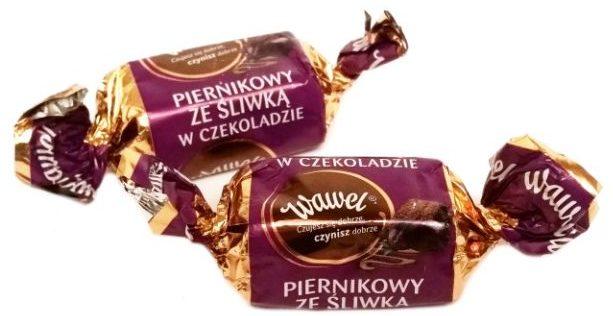 Wawel, Piernikowy ze śliwką w czekoladzie, czekoladowe cukierki świąteczne, copyright Olga Kublik