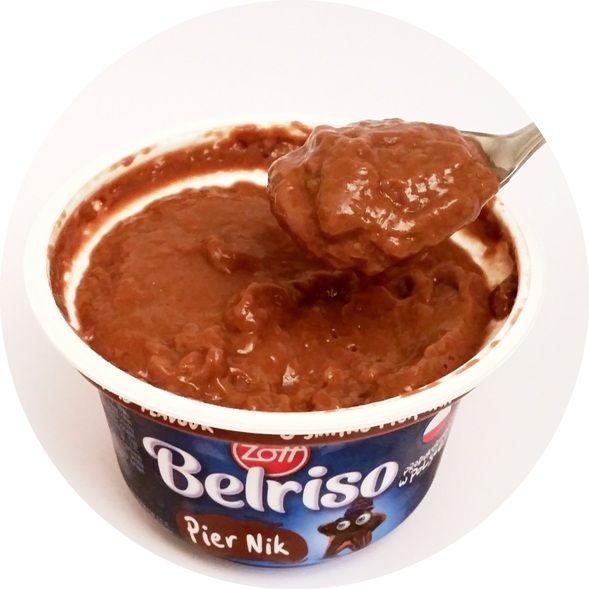 Zott, Belriso Piernik o smaku piernika, ryż na mleku o smaku czekoladowym z sosem piernikowym, copyright Olga Kublik