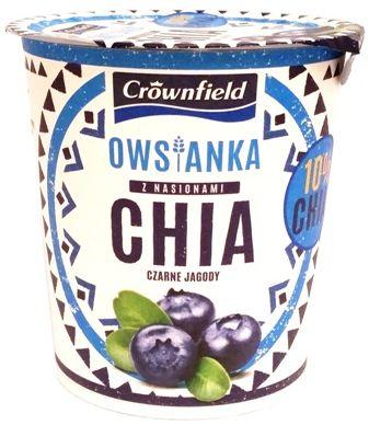 Crownfield Owsianka z nasionami chia czarne jagody, owsianka z Lidla, copyright Olga Kublik