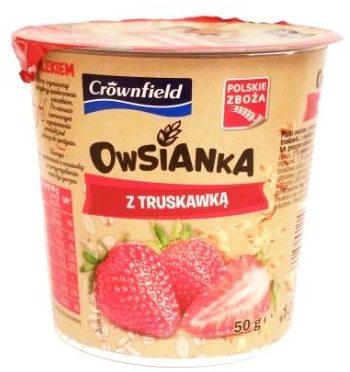 Crownfield, Owsianka z truskawka, deser owsiany z Lidla, copyright Olga Kublik