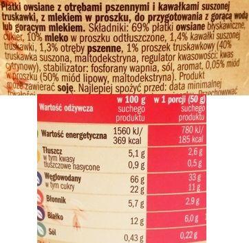 Crownfield, Owsianka z truskawka, deser owsiany z Lidla, skład i wartości odżywcze, copyright Olga Kublik