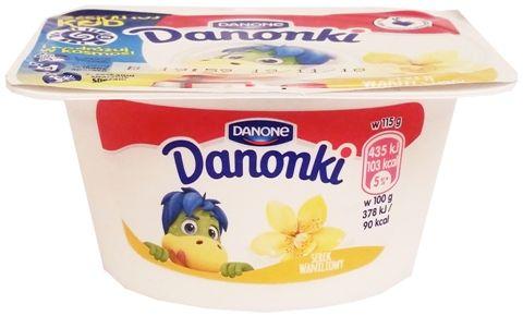 Danone, Danonki serek waniliowy, serek homogenizowany dla dzieci, copyright Olga Kublik