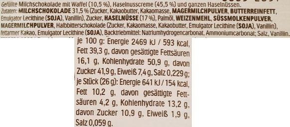 Ferrero, Duplo Chocnut, czekoladowy baton z mleczną czekoladą, kremem orzechowym i orzechami laskowymi, zagraniczne słodycze z Niemiec, skład i wartości odżywcze, copyright Olga Kublik