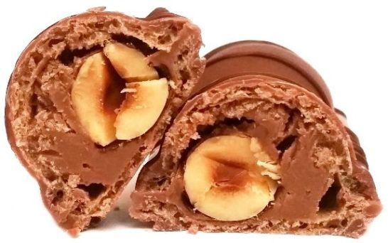 Ferrero, Duplo Chocnut, czekoladowy baton z mleczną czekoladą, kremem orzechowym i orzechami laskowymi, zagraniczne słodycze z Niemiec, copyright Olga Kublik