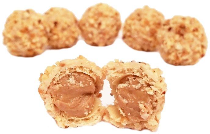 Ferrero, Giotto Haselnuss, pralinki z kremem orzechowym i siekanymi orzechami laskowymi, zagraniczne słodycze, copyright Olga Kublik