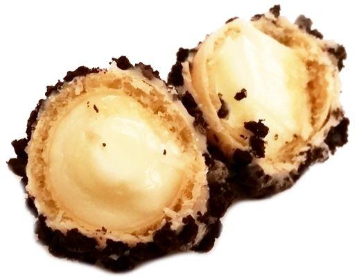 Ferrero, Giotto Momenti Cookies and Cream, zagraniczne słodycze, praliny z posypką z kakaowych herbatników i kremem waniliowym, copyright Olga Kublik