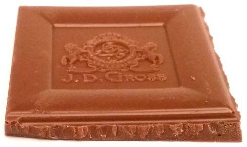 J. D. Gross, Czekolada mleczna z mielonymi orzechami laskowymi, gianduja nugat, czekolada z Lidla, copyright Olga Kublik