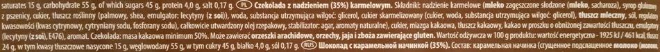 Millano-Baron, Cocoa Travel Madagascar Mini Pralines Caramel, czekoladki z karmelem, ciemna czekolada, skład i wartości odżywcze, copyright Olga Kublik