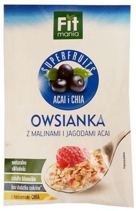 Mokate, Fit mania Superfruits acai i chia Owsianka z malinami i jagodami acai, copyright Olga Kublik