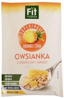 Mokate, Fit mania Superfruits ananas i chia Owsianka z ananasem i mango, copyright Olga Kublik