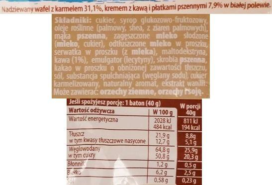 Nestle, Lion Latte, kruchy wafel z kremem kawowym, karmelem i białą polewą, limitowany baton czekoladowy, skład i wartości odżywcze, copyright Olga Kublik