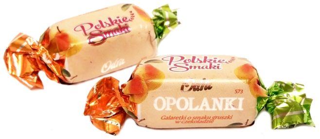 Odra, Opolanki Polskie Smaki galaretki o smaku gruszki i czarnej porzeczki w czekoladzie, copyright Olga Kublik
