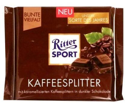 Ritter Sport, Kaffeesplitter, ciemna czekolada z kawą, copyright Olga Kublik