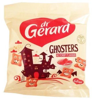 Dr Gerard, Ghosters Ketchup Falvour, przekąska dla dzieci małych i dużych, krakersy ketchupowe, copyright Olga Kublik