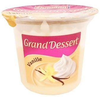 Ehrmann, Grand Dessert Vanille, waniliowy budyń z bitą śmietaną, copyright Olga Kublik