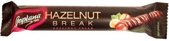 Goplana, Hazelnut Break Hazelnut Cream, baton z mleczną czekoladą i kremem o smaku orzechów laskowych a la Nutella, copyright Olga Kublik