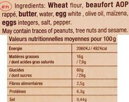 La Biscuiterie, Tavaillons Beaufort AOP, ciastka z żółtym serem, herbatniki z Francji, skład i wartości odżywcze, copyright Olga Kublik