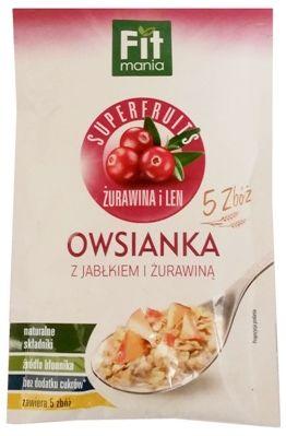 Mokate, Fit mania Superfruits 5 zbóż owsianka z jabłkiem i żurawiną i cynamonem, copyright Olga Kublik