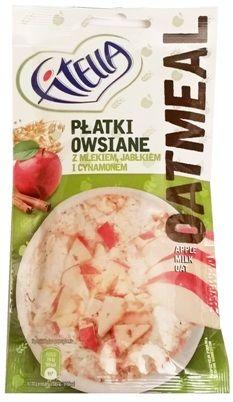 Nestle, Fitella Oatmeal Płatki owsiane z mlekiem, jabłkiem i cynamonem, owsianka instant, szybki deser zbożowy, copyright Olga Kublik