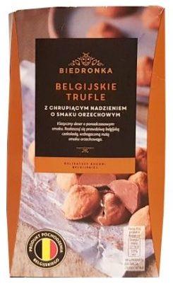 Confiserie Vandenbulcke, Biedronka Belgijskie Trufle z chrupiącym nadzieniem o smaku orzechowym, copyright Olga Kublik